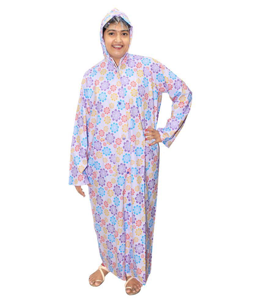 Goodluck PVC Long Raincoat - Multi Color