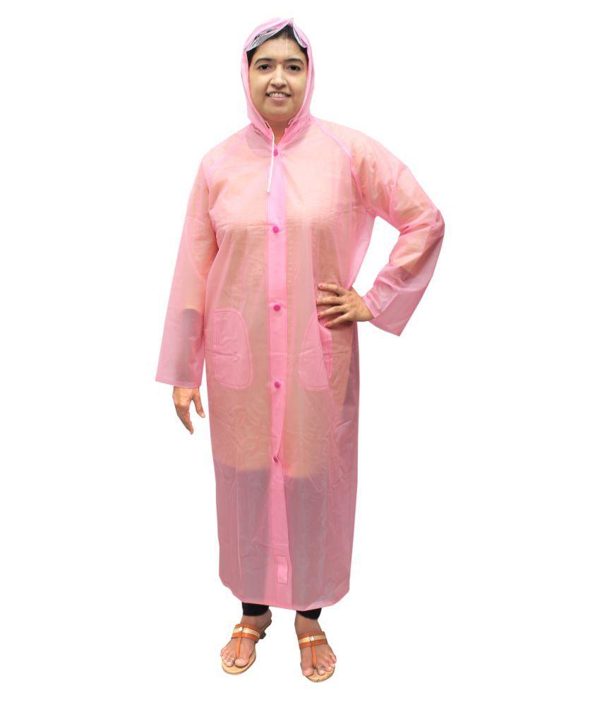 Goodluck PVC Long Raincoat - Pink