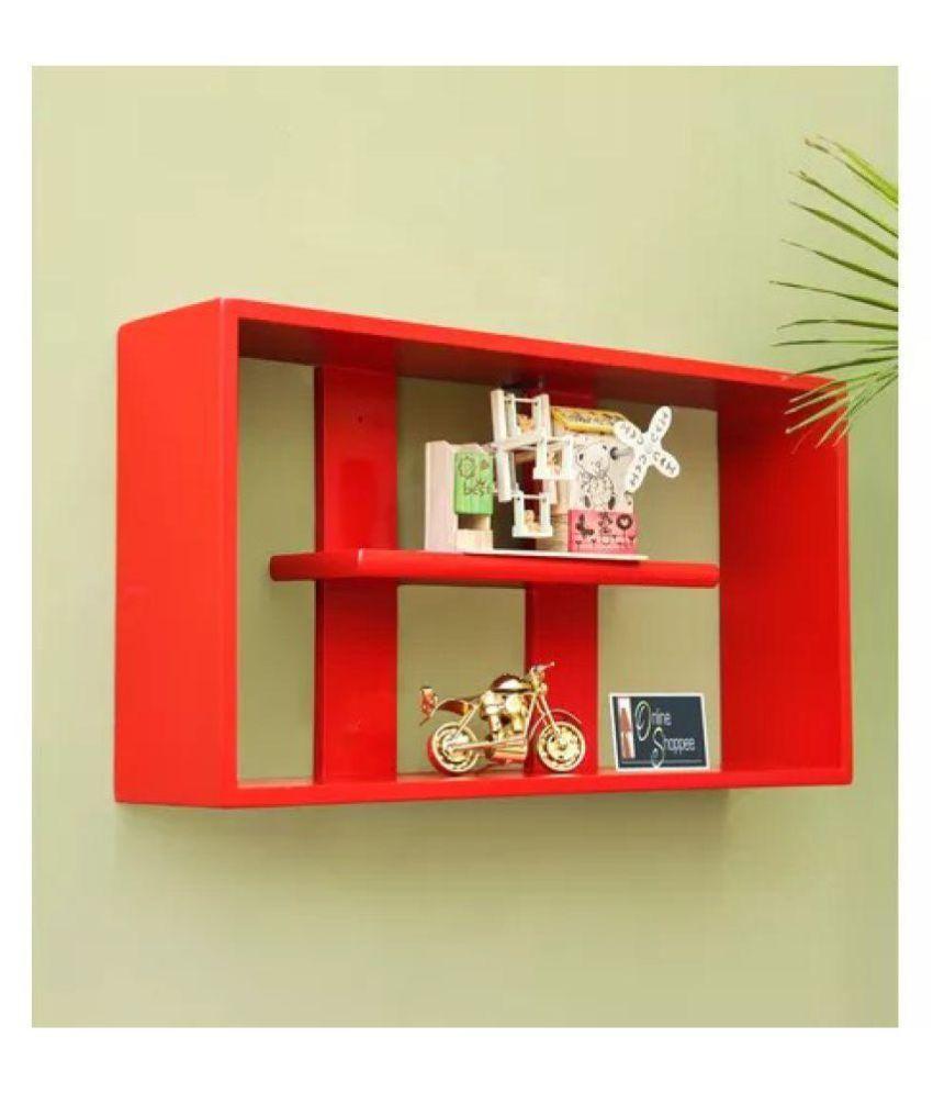 Onlineshoppee MDF Handicraft multiple compartments Designer Wall Shelf