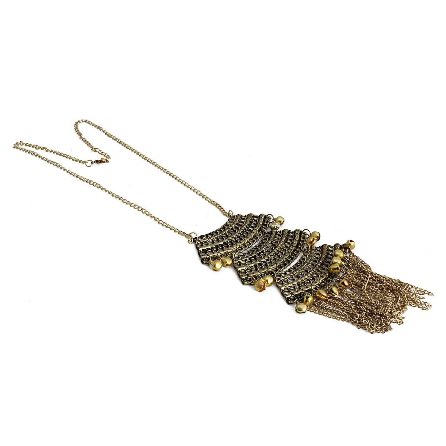 Aradhya Designer Antique Oxidized Golden Fancy Necklace fashion jewellery for girls
