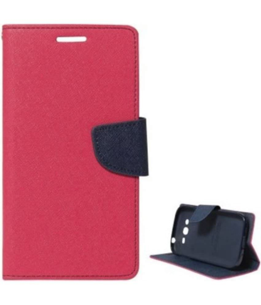 Vivo Y55 Flip Cover by Bright traders - Pink