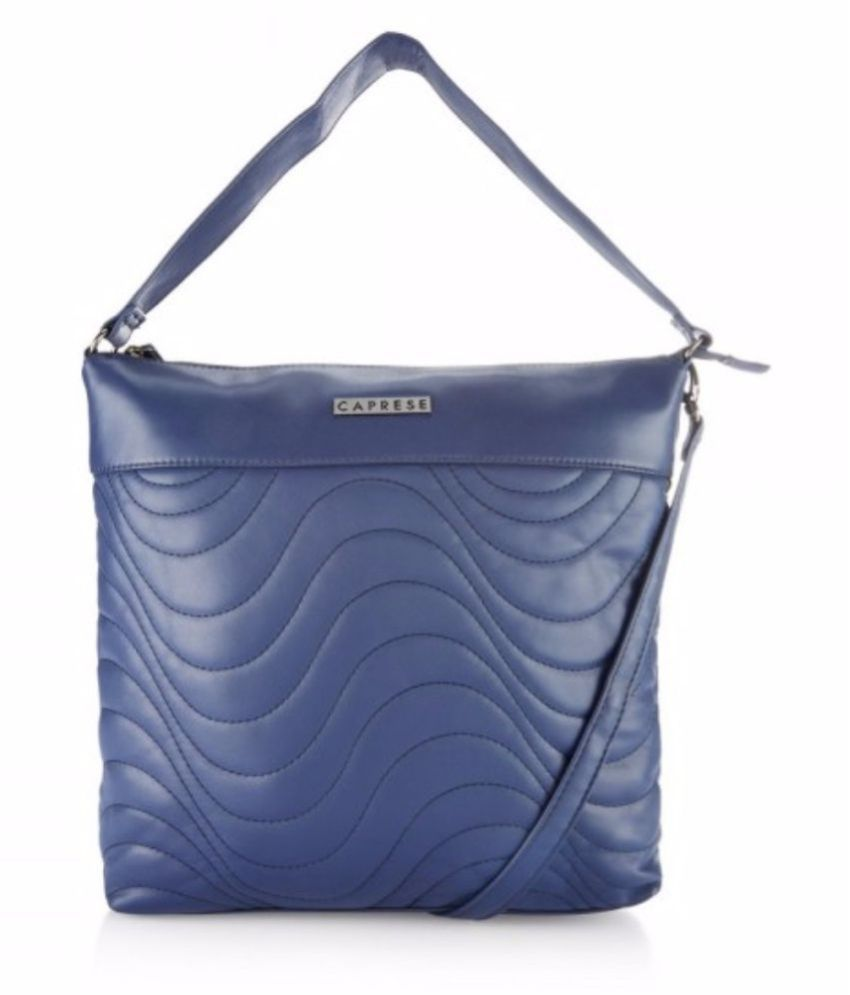 Caprese Navy Faux Leather Sling Bag