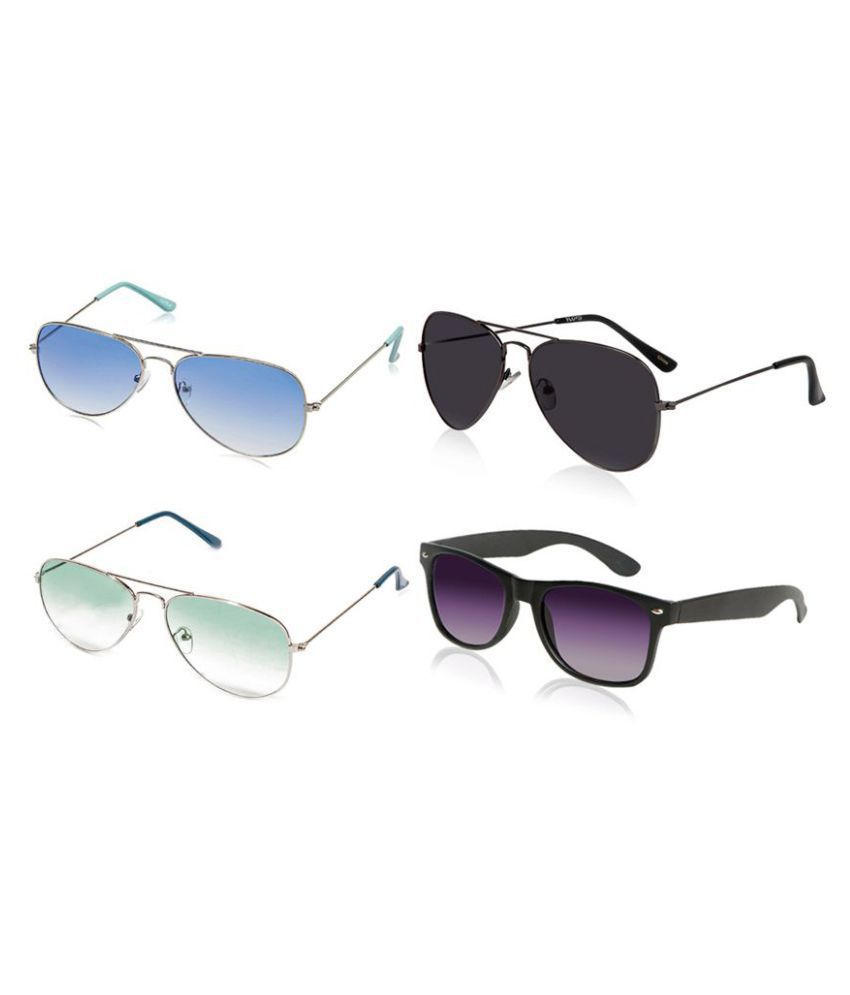 MagJons Multicolor Aviator Sunglasses ( Set of 4 ) - Buy MagJons Multicolor  Aviator Sunglasses ( Set of 4 ) Online at Low Price - Snapdeal c05048d149
