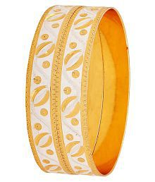 Maayra Golden Dailywear Bangle Set Hand Crafted Bangle Set for Women