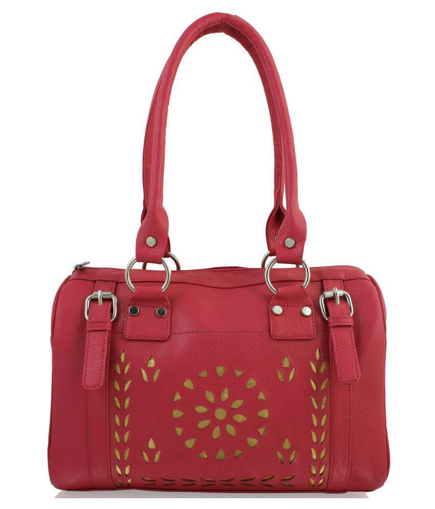 P&Y Fashion PeachPuff Artificial Leather Shoulder Bag