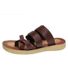 Hureen Artificial Leather Slippers For Men Tan buy cheap get to buy az0gtmevwY