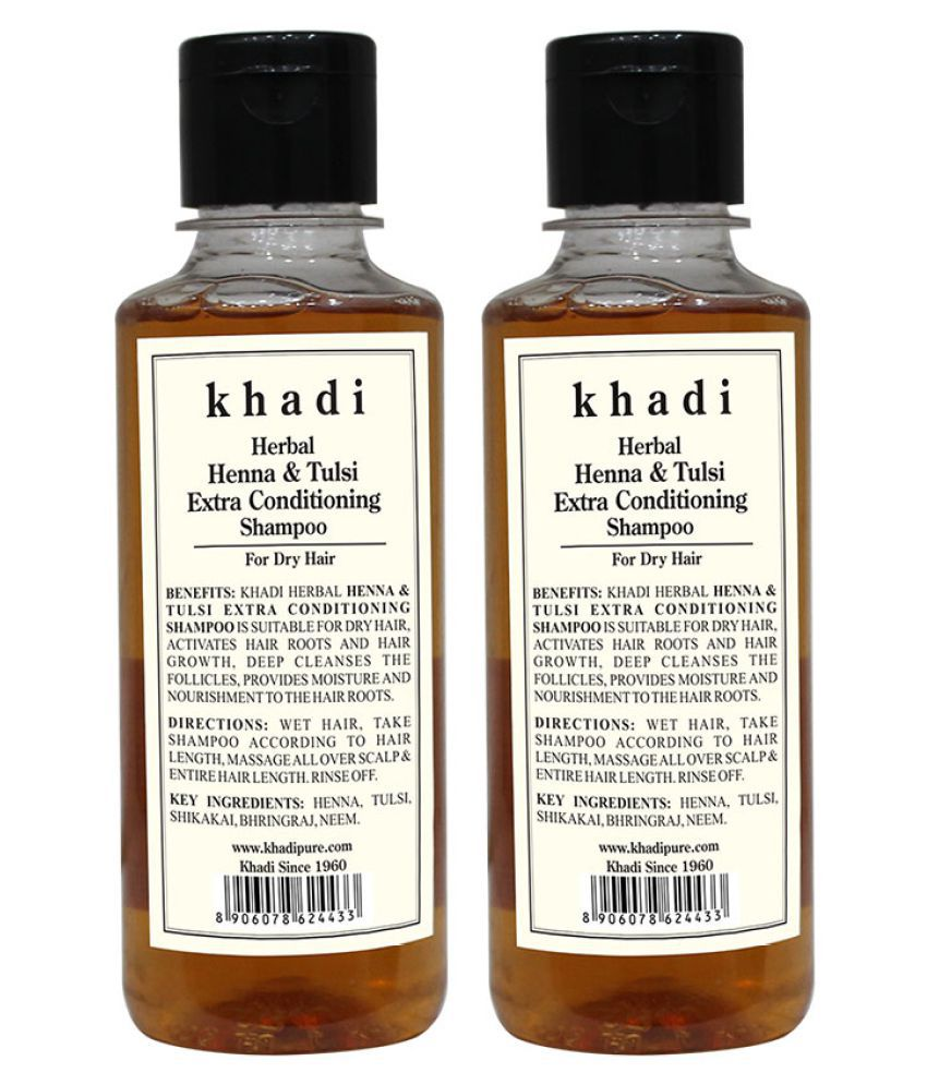 Khadi Herbal Henna Tulsi Extra Conditioning Shampoo 420 Ml Pack Of