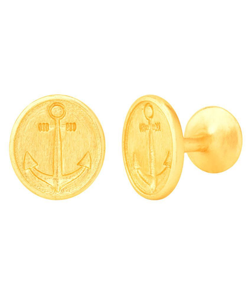 Dare by Voylla Nautical Gold Plated Anchor Cufflinks