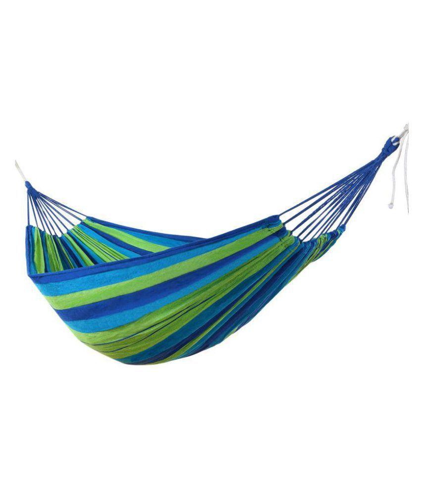 kobalt basics canvas single person colorful hammock green blue