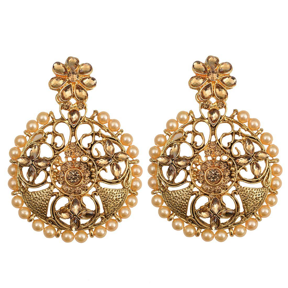 Taj Pearl Traditional Drop Earrings