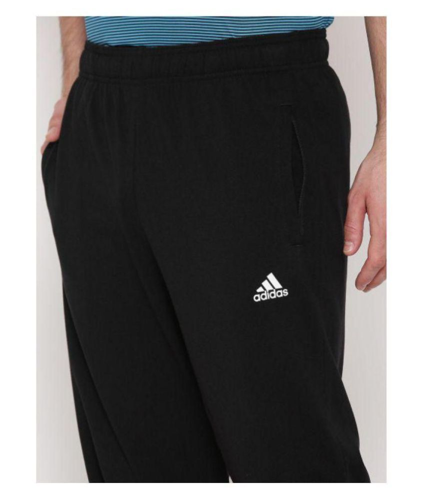 b9badf1991ae Adidas Black Men/Boy's Polyester Lycra Track Pant - Buy Adidas Black ...