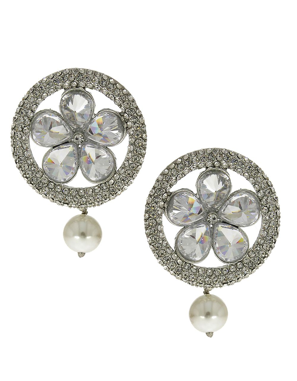 Anuradha Art Silerv Finish Very Classy Designer Tops Party Wear Trendy Western Tops /Traditional Earring For Womens/ Girls