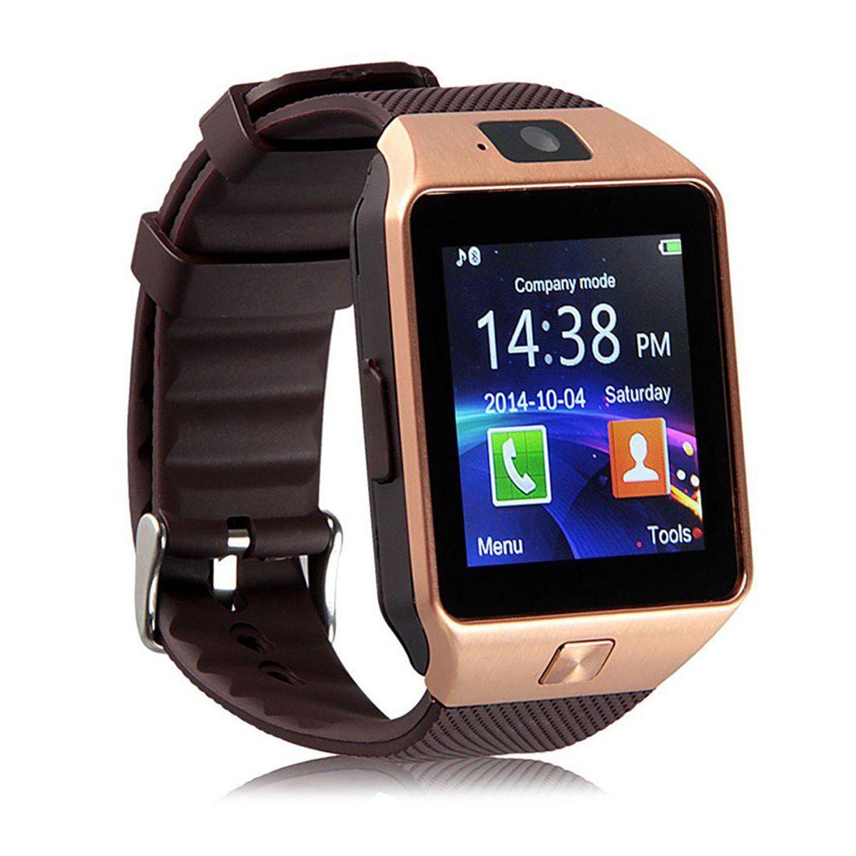 Over Tech Smartwatch Suited Maxx Mobile AX9z Dz09 Golden Smart Watches