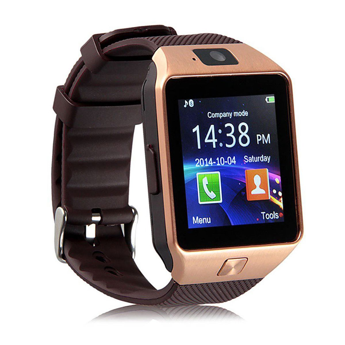 Over Tech Smartwatch Suited iBall Andi4.5-K6 Dz09 Golden Smart Watches