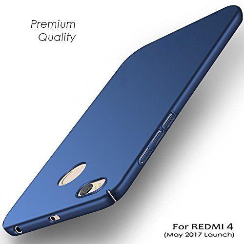 check out a683e d871c Xiaomi Redmi 4 Plain Cases BEASTIN - Blue 360 Degree Protection Rubberised  Matte Hard Case