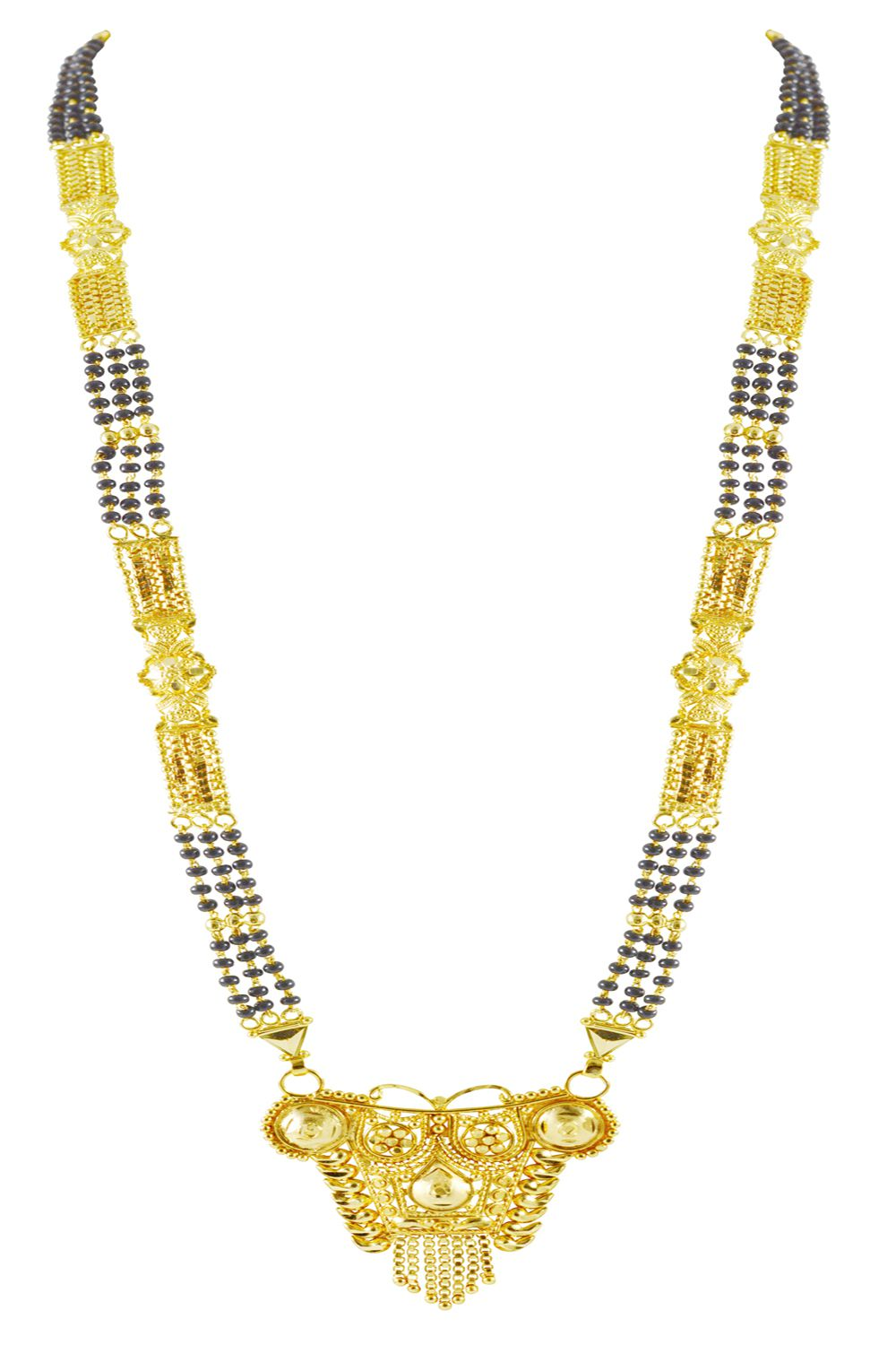 Rejewel Mangalsutra With Black and Gold Chain