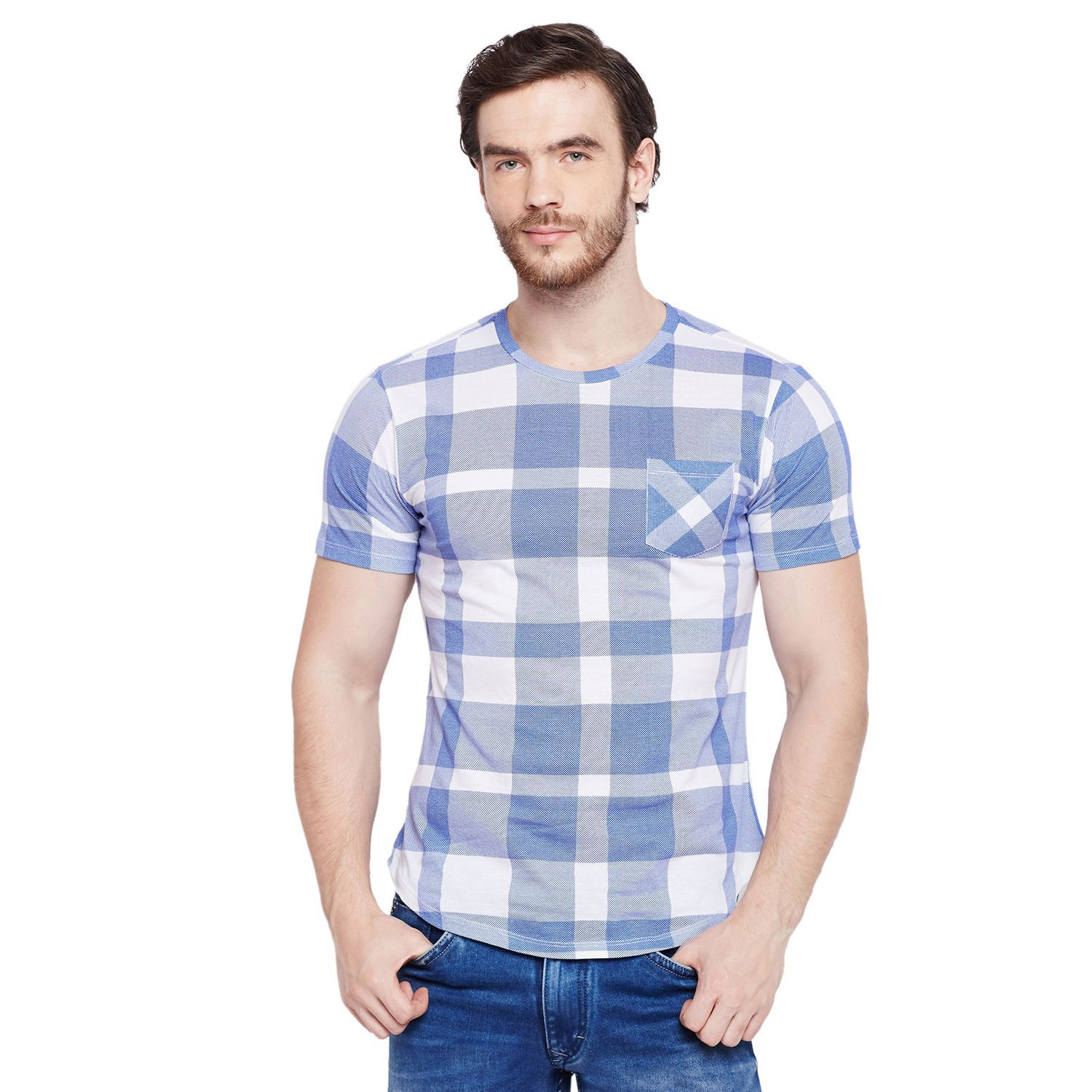 LE BOURGEOIS Blue Round T-Shirt Pack of 1