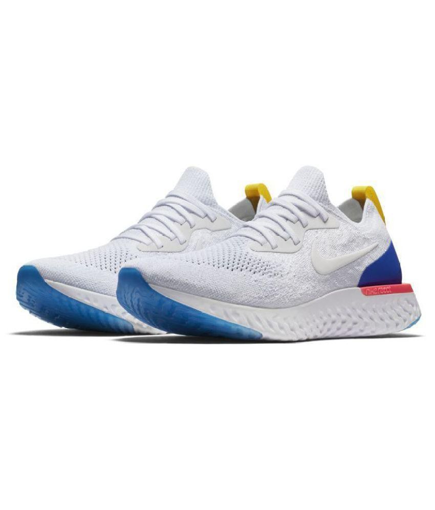 official photos 1f437 ab824 ... new zealand nike epic react flyknit white running shoes b536d e6a05
