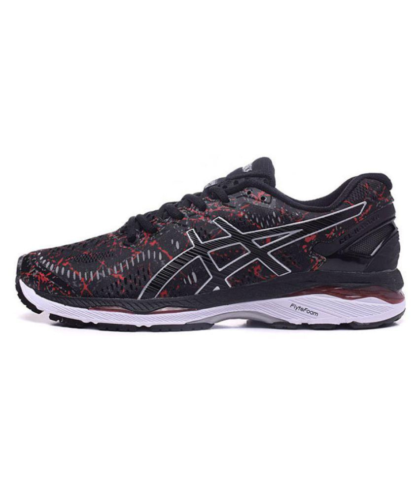 superior quality 6014a 63459 Asics GEL-KAYANO 23 Black Running Shoes