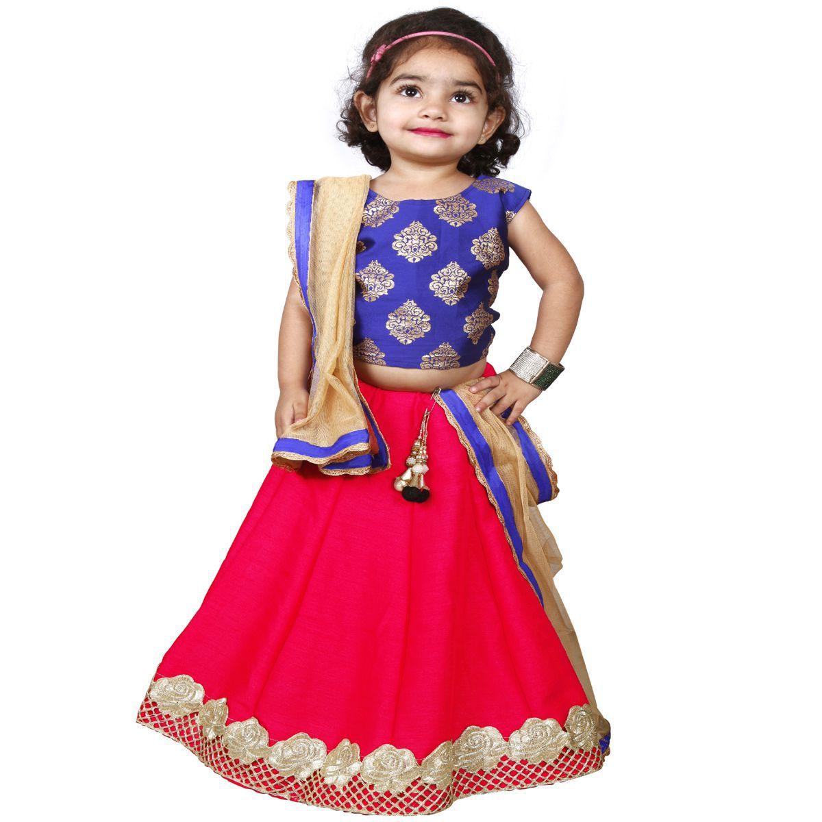 d1bf17500f3c NAJARA FASHION Kids Wear Embroidered Lehenga