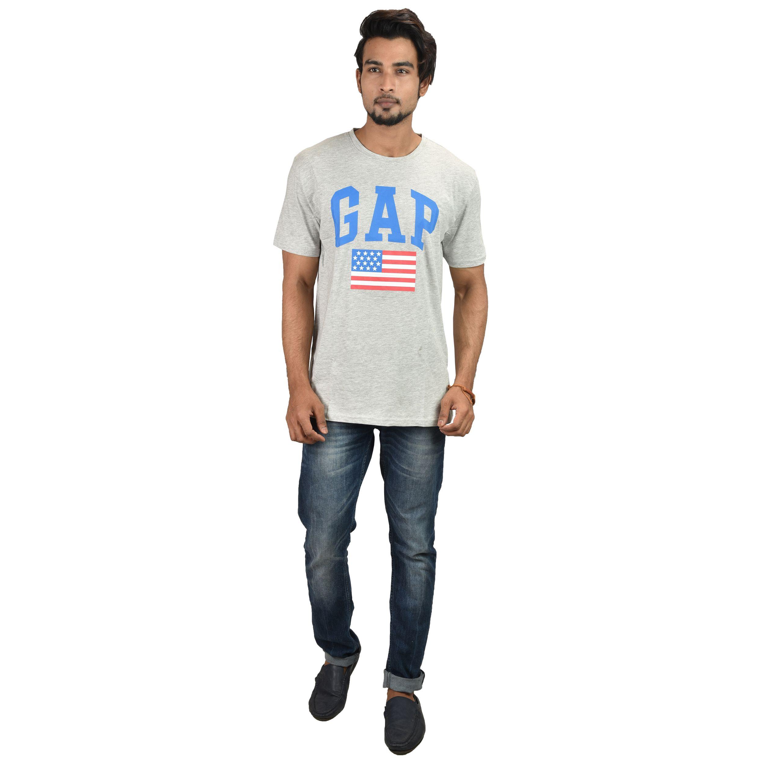 OddFashion Grey Cotton T-Shirt Single Pack