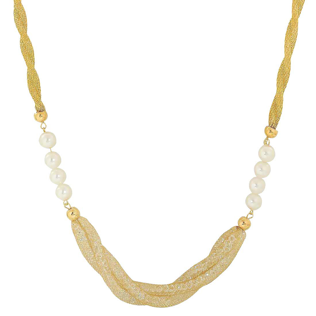 Maayra American Diamond Neckpiece White Pearl shape Party Neckpiece