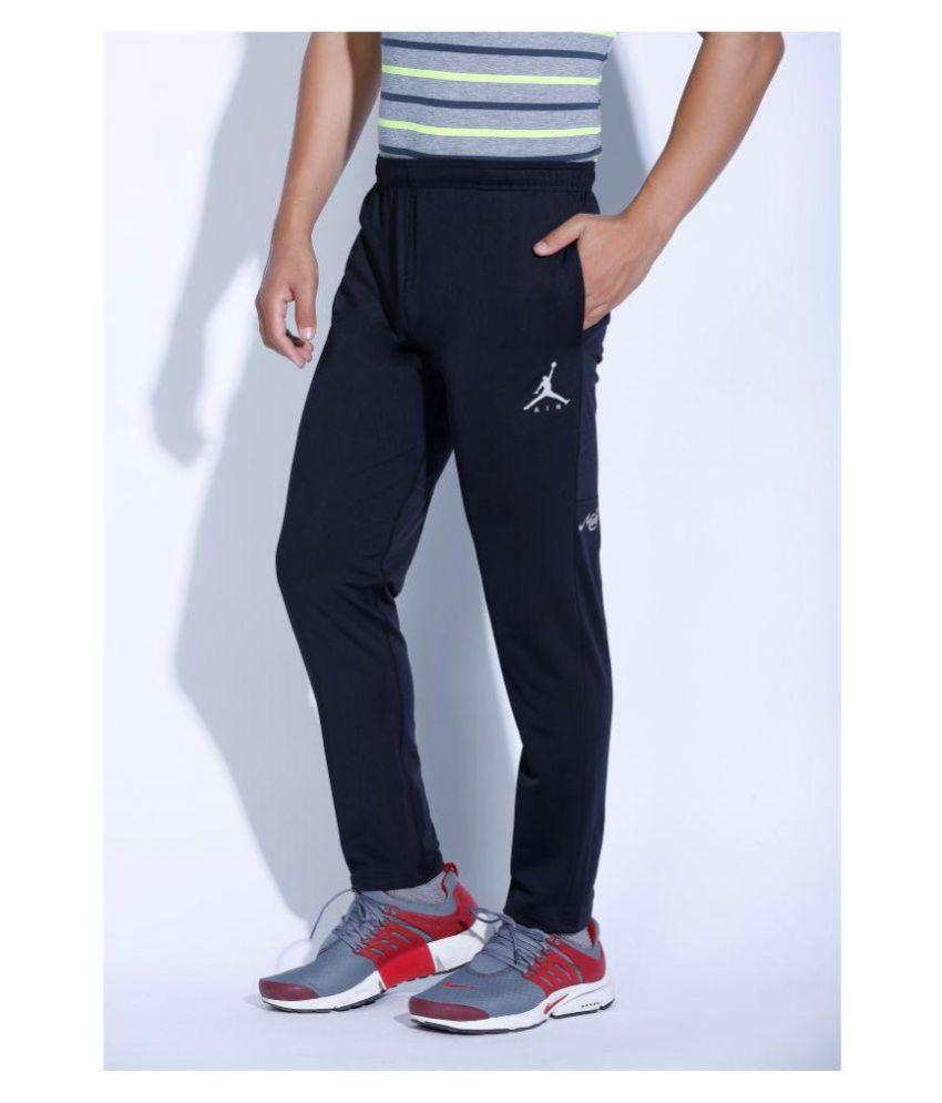 8d63f411ea5b Nike Air Jordan Black Polyester Lycra Track pants - Buy Nike Air ...
