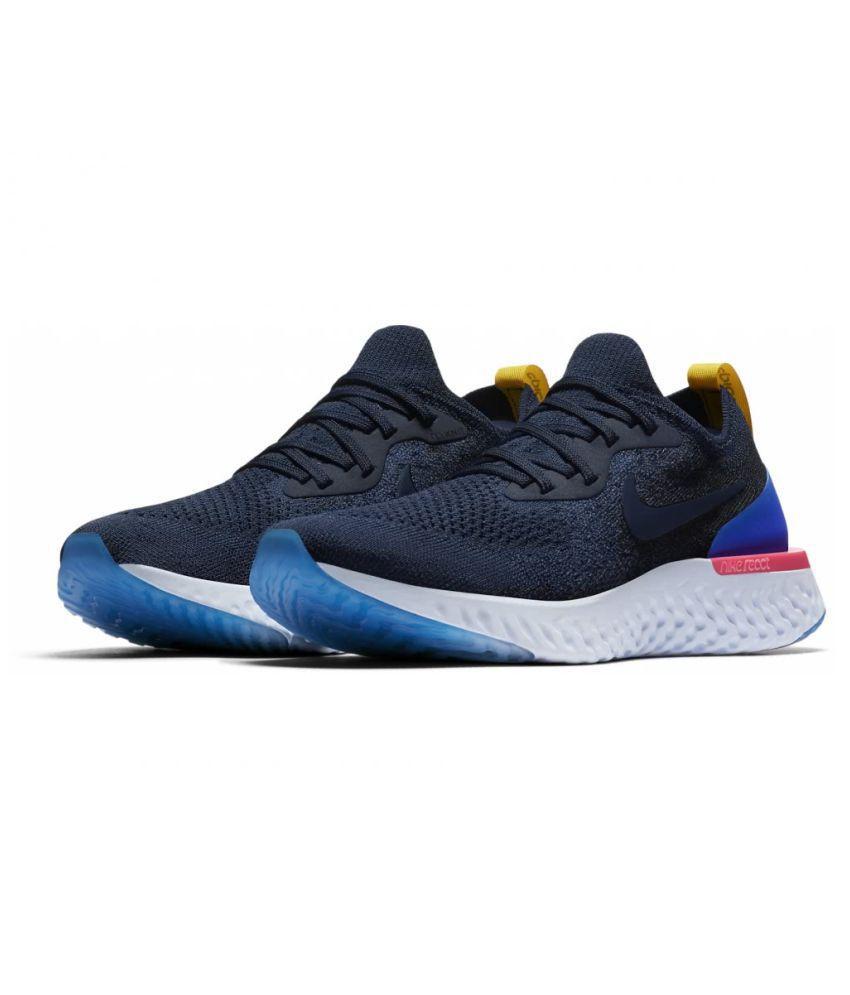 3455b6d71de16 Nike 2018 Epic React Flyknit Blue Running Shoes - Buy Nike 2018 Epic ...