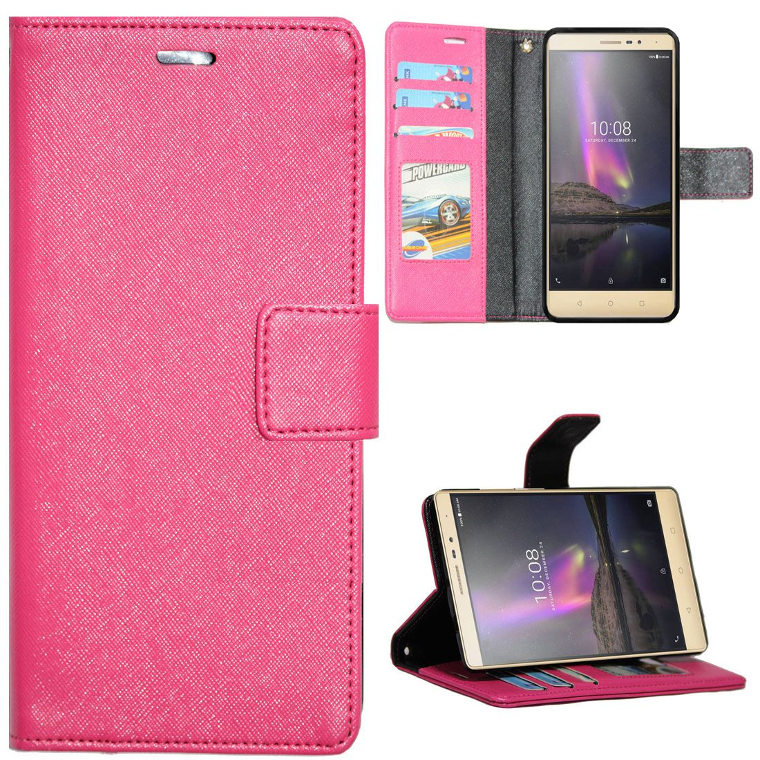 huge selection of a7a66 2223b Lenovo Phab 2 Plus Flip Cover by Gizmofreaks - Pink