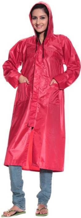 BS SPY Long Raincoat - Red