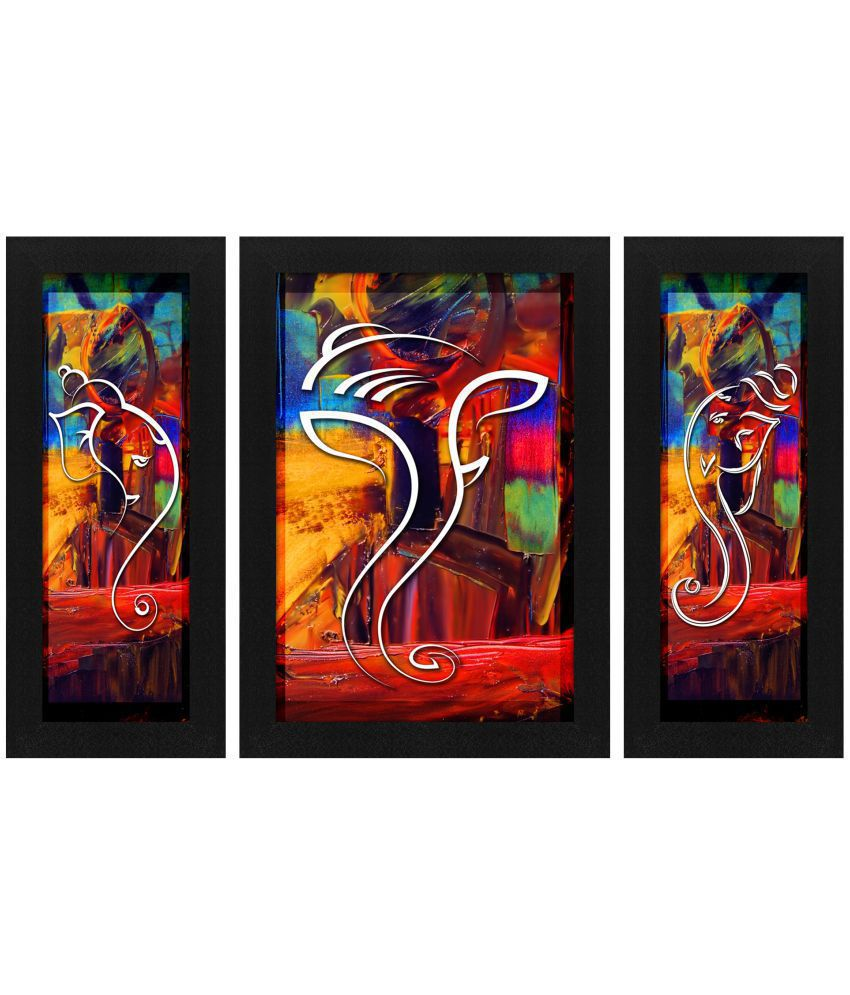 Story Home Ganesha Painting Frame Canvas Painting With