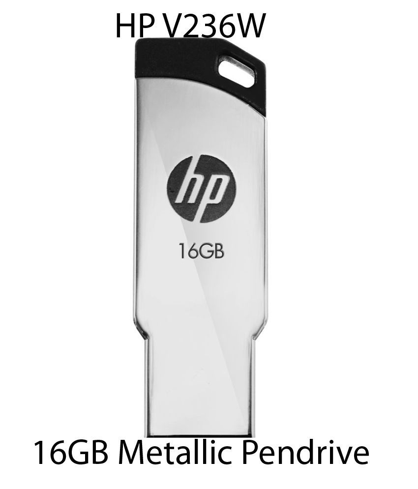 HP V236W 16GB Metallic Pendrive (Silver)
