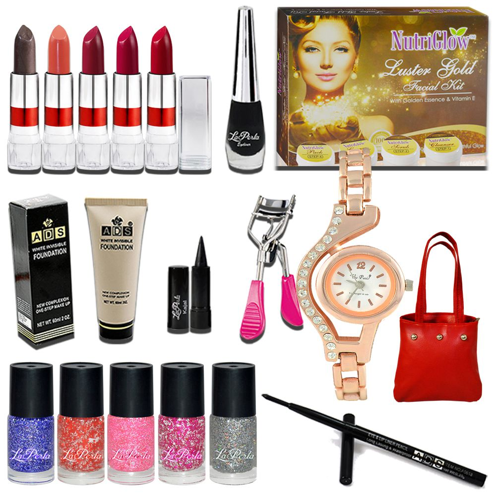 Adbeni Combo Makeup Sets C349 Pack Of 17 Makeup Kit no.s