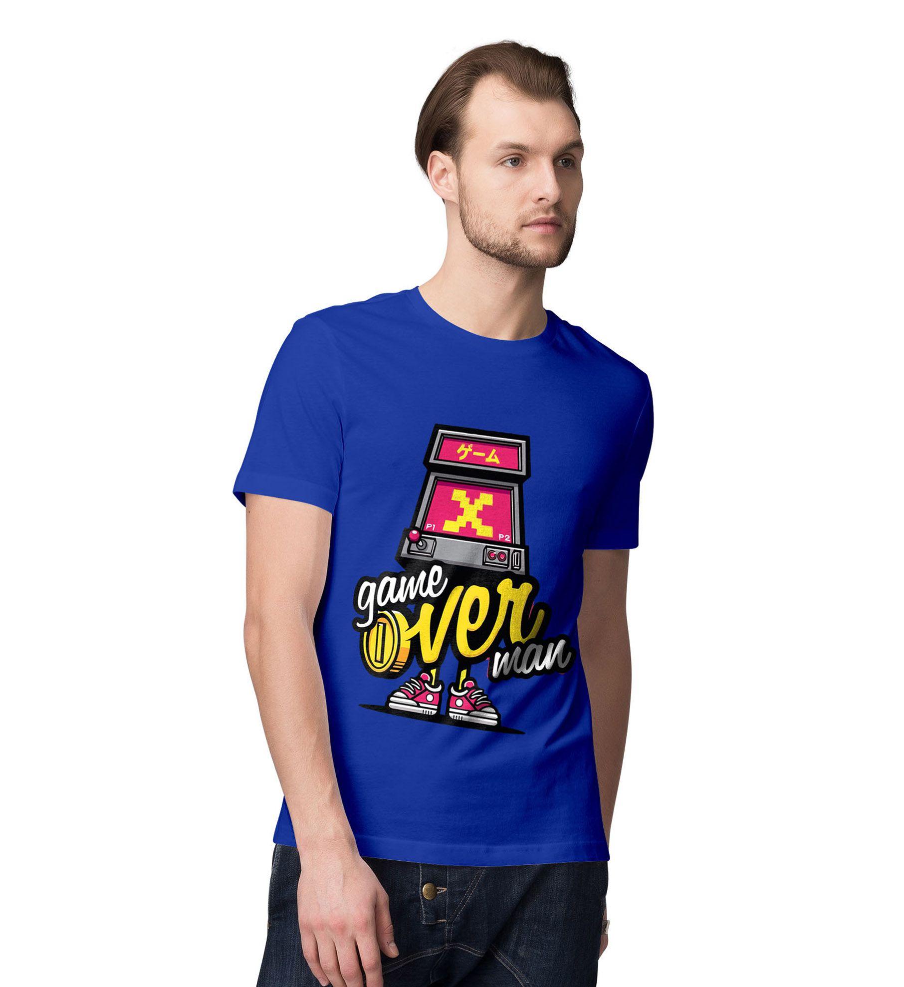 Desi Bonkers Blue Round T-Shirt