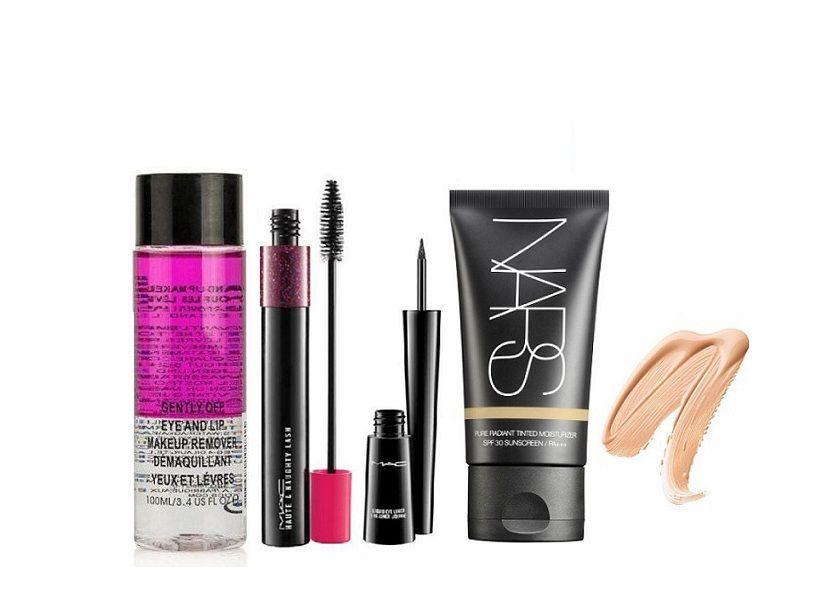 Imported Combo Mac Makeup Remover,Haute & Naughty Double Effet Mascara ,Eyeliner & Nars Foundation Makeup Kit ml: Buy Imported Combo Mac Makeup Remover ...