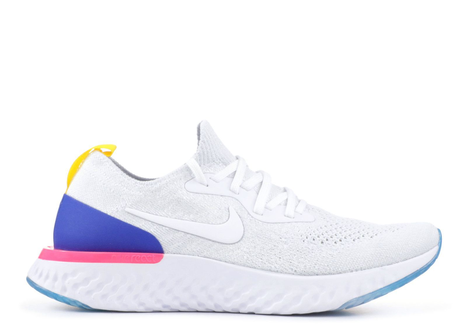 56c12162b4f Nike Epic React Flyknit White Running Shoes - Buy Nike Epic React Flyknit  White Running Shoes Online at Best Prices in India on Snapdeal