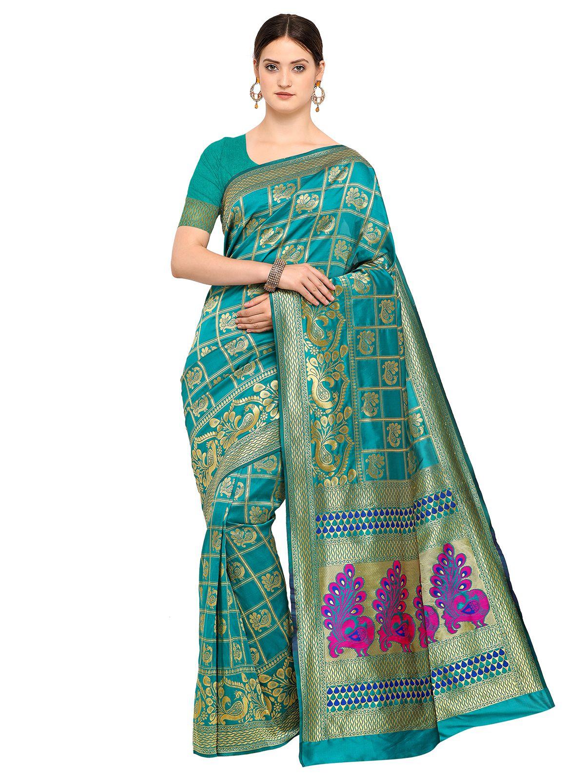 Saree Mall Blue Art Silk Saree