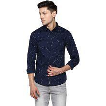 Spykar Navy Slim Fit Shirt