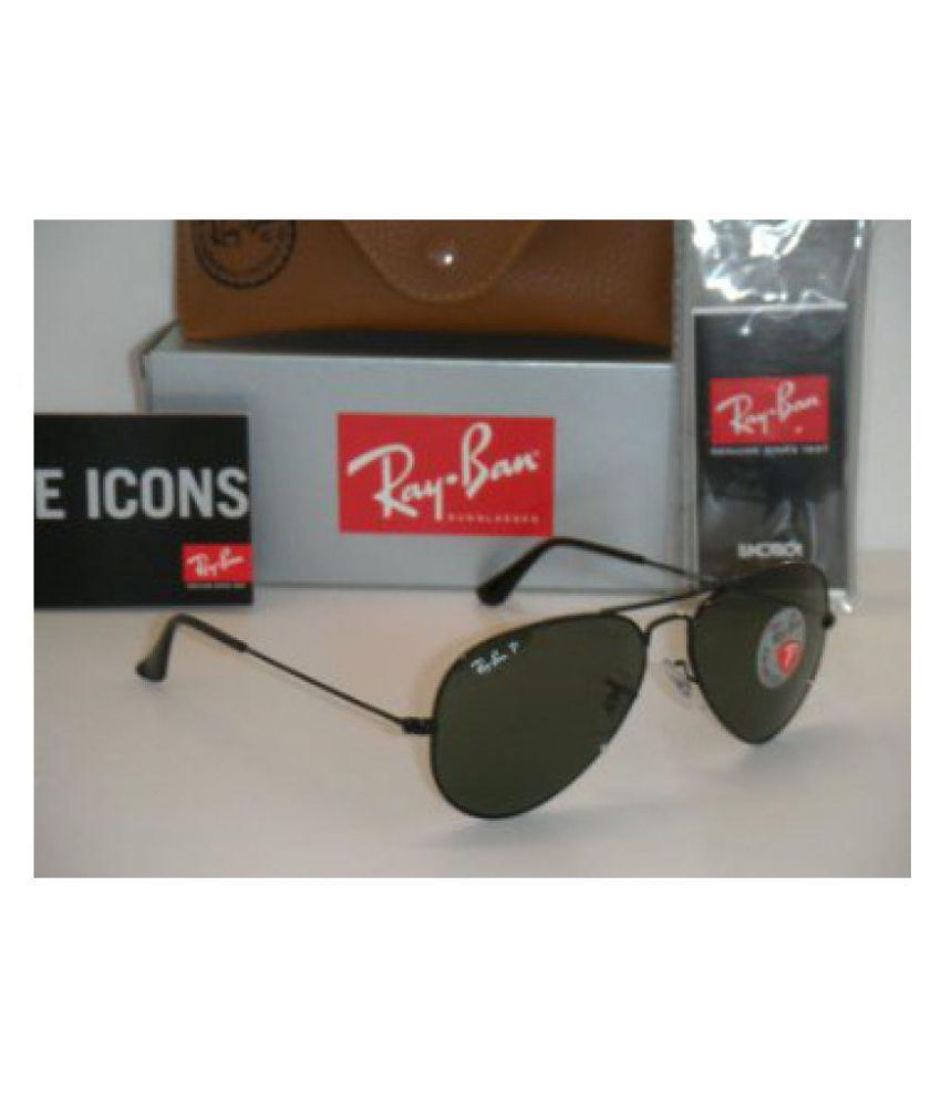 Ray Ban Avaitor Green Aviator Sunglasses ( green aviator )