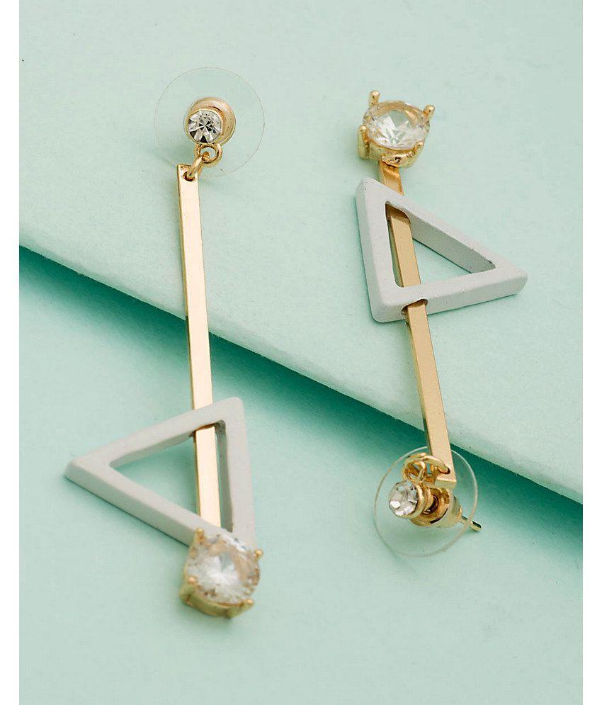 Voila  Golden  Chandeliers Earrings  Single Pair