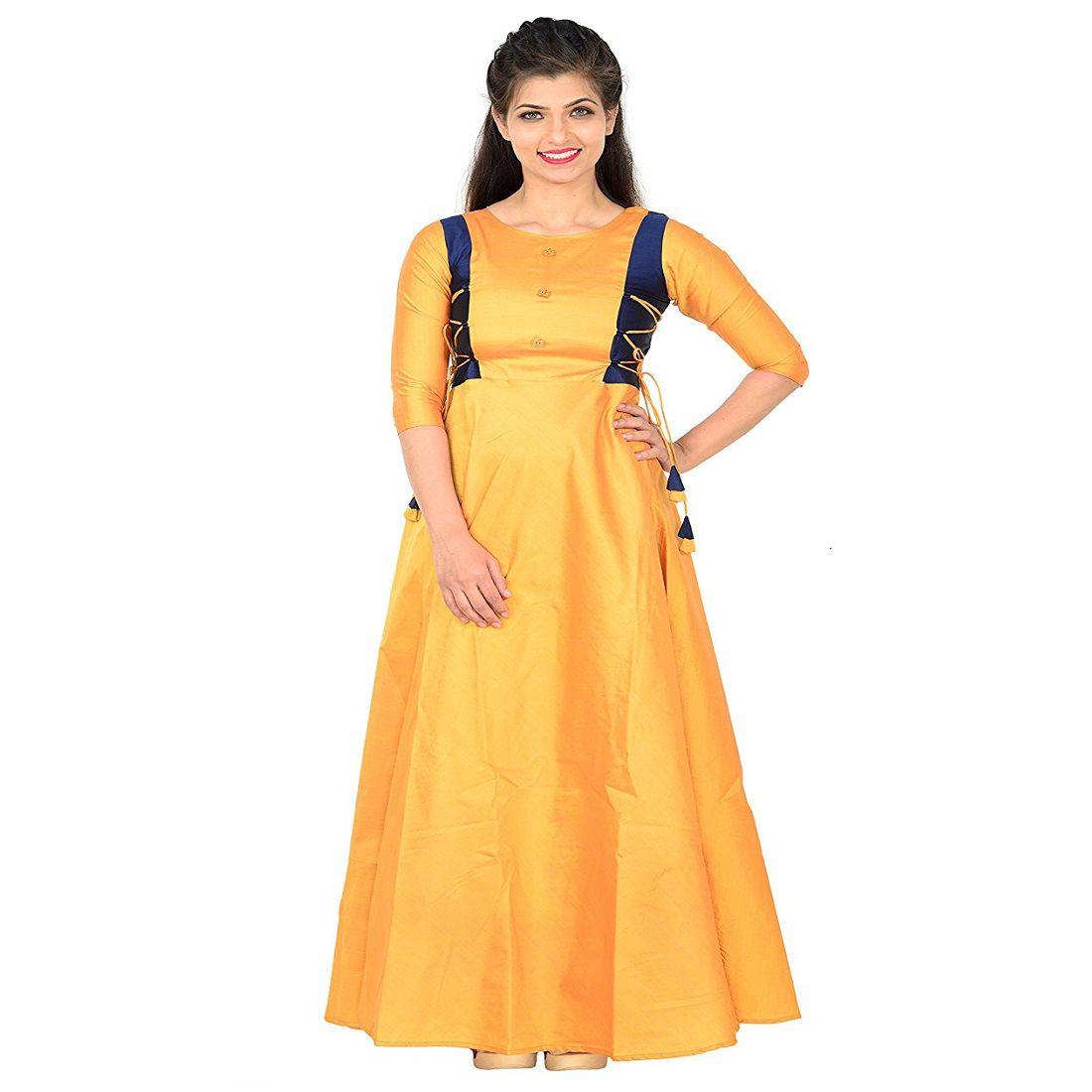 Sukhsagar Creation Silk Yellow Gown