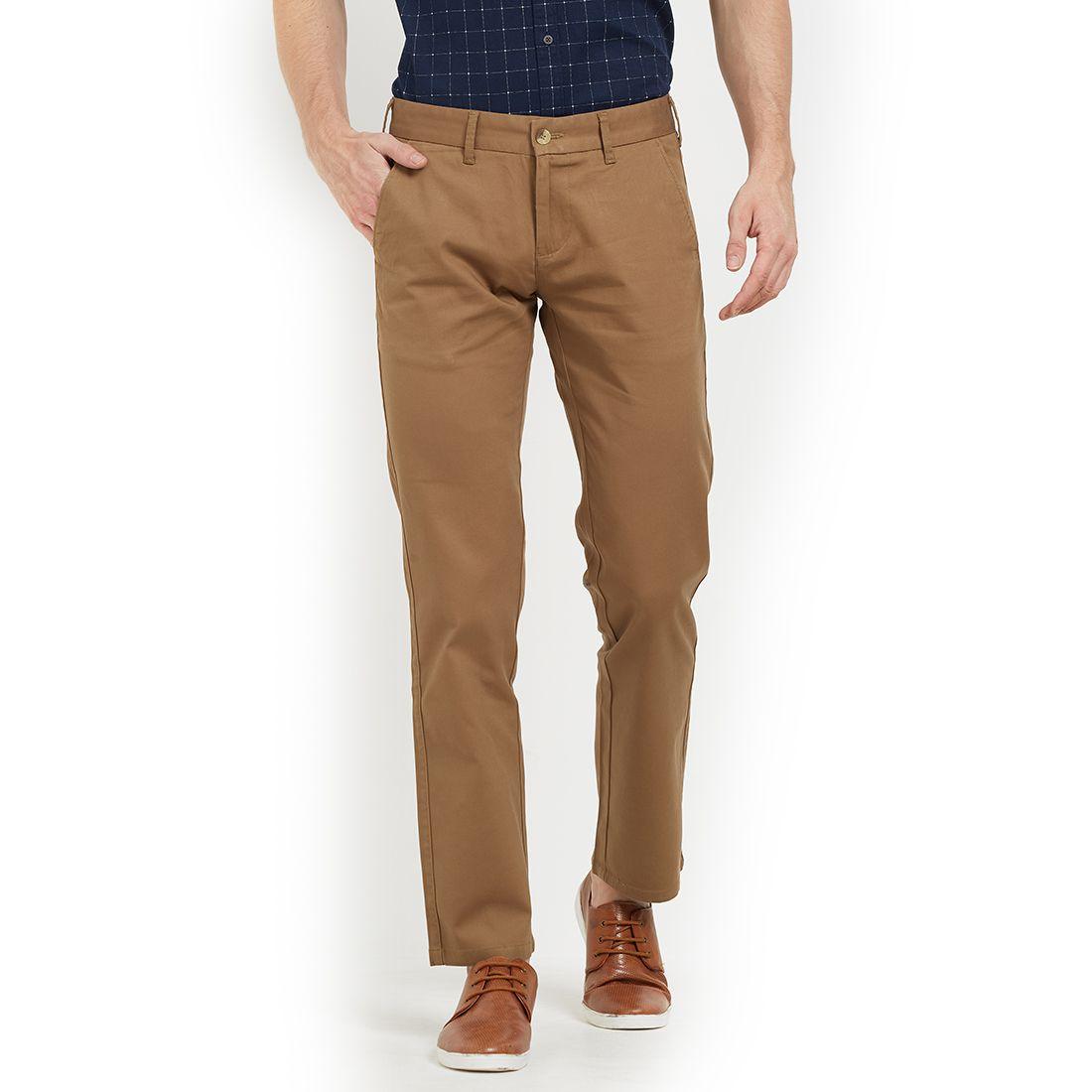 EASIES by KILLER Beige Regular -Fit Flat Trousers