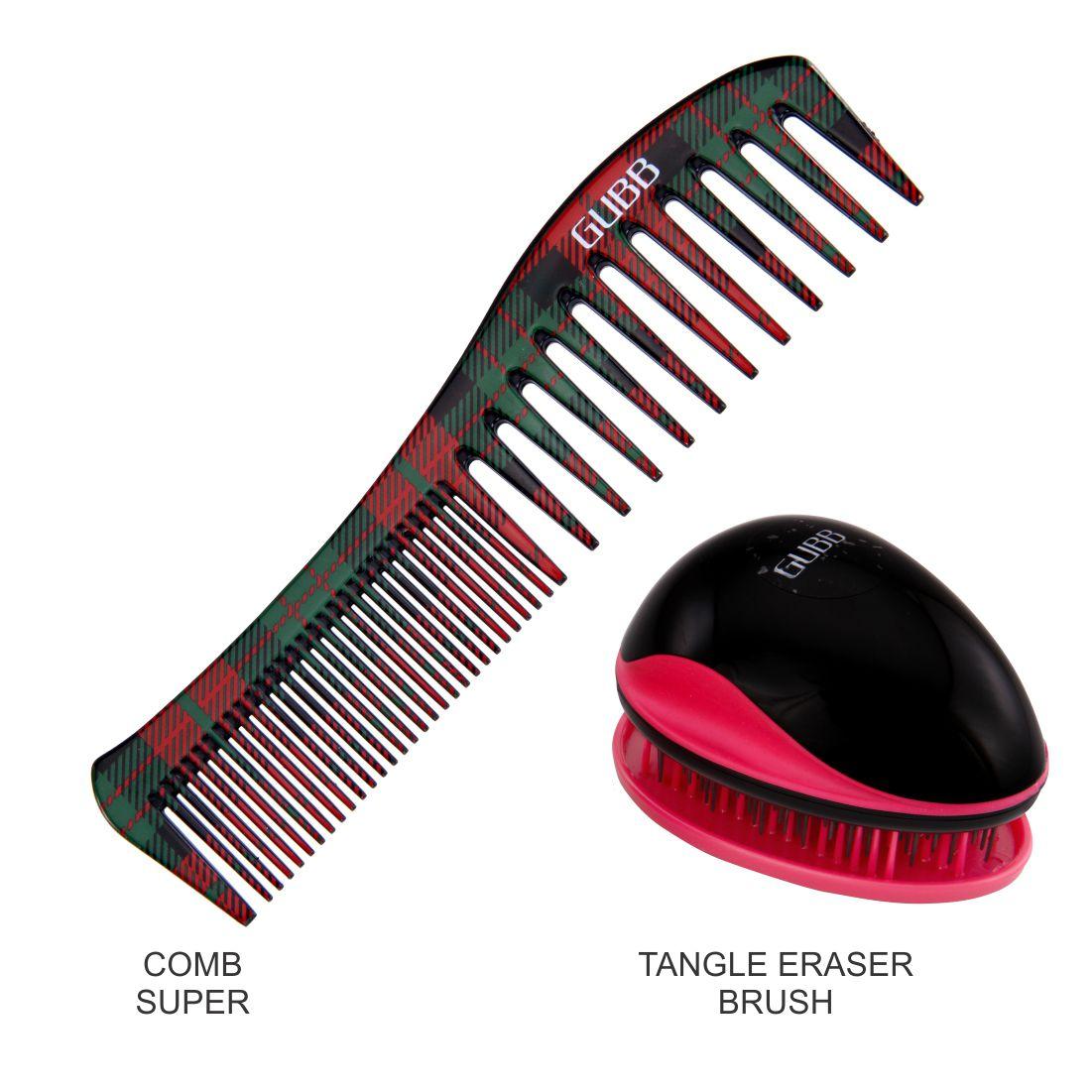 Gubb TANGLED HAIR BRUSH, HAIR COMB TANGLED HAIR BRUSH COMB COMBO 2 Pack of 2