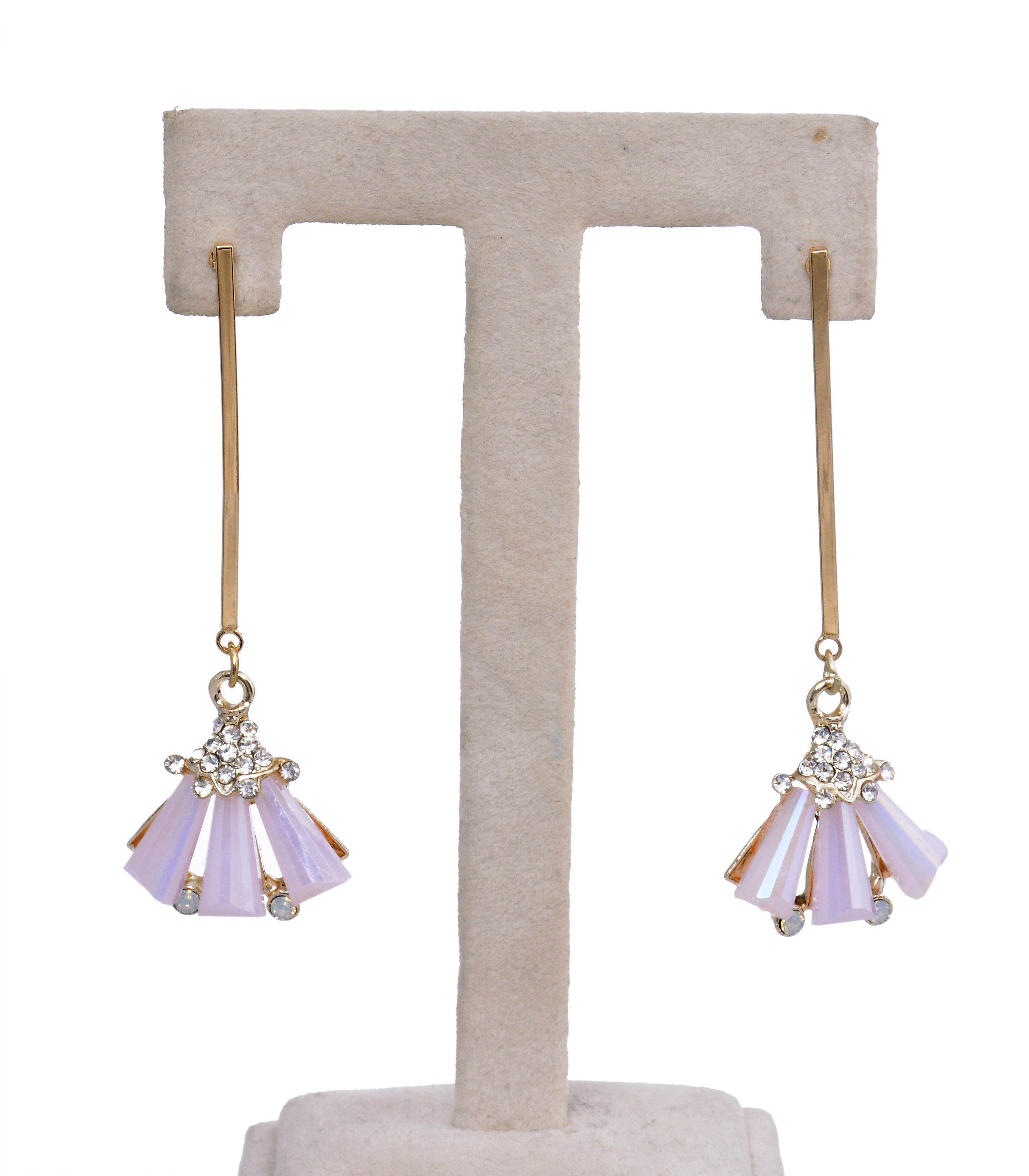 Beautiful Stylish Fancy Light Pink Party Earrings for Girls and Women-Pink