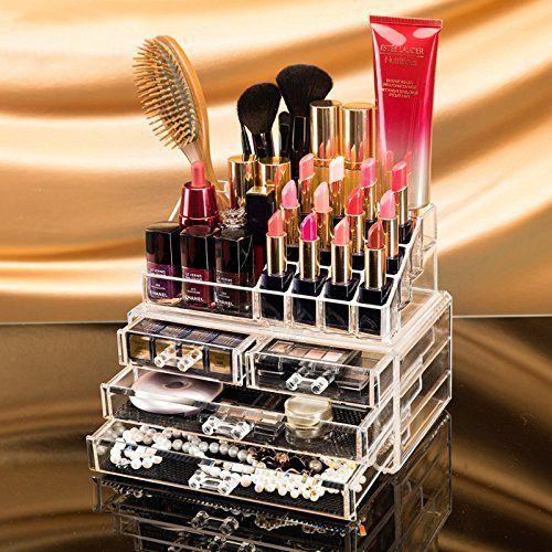4 Drawers Makeup Organizer Combo Set 4 Layer Drawer 16 Pcs