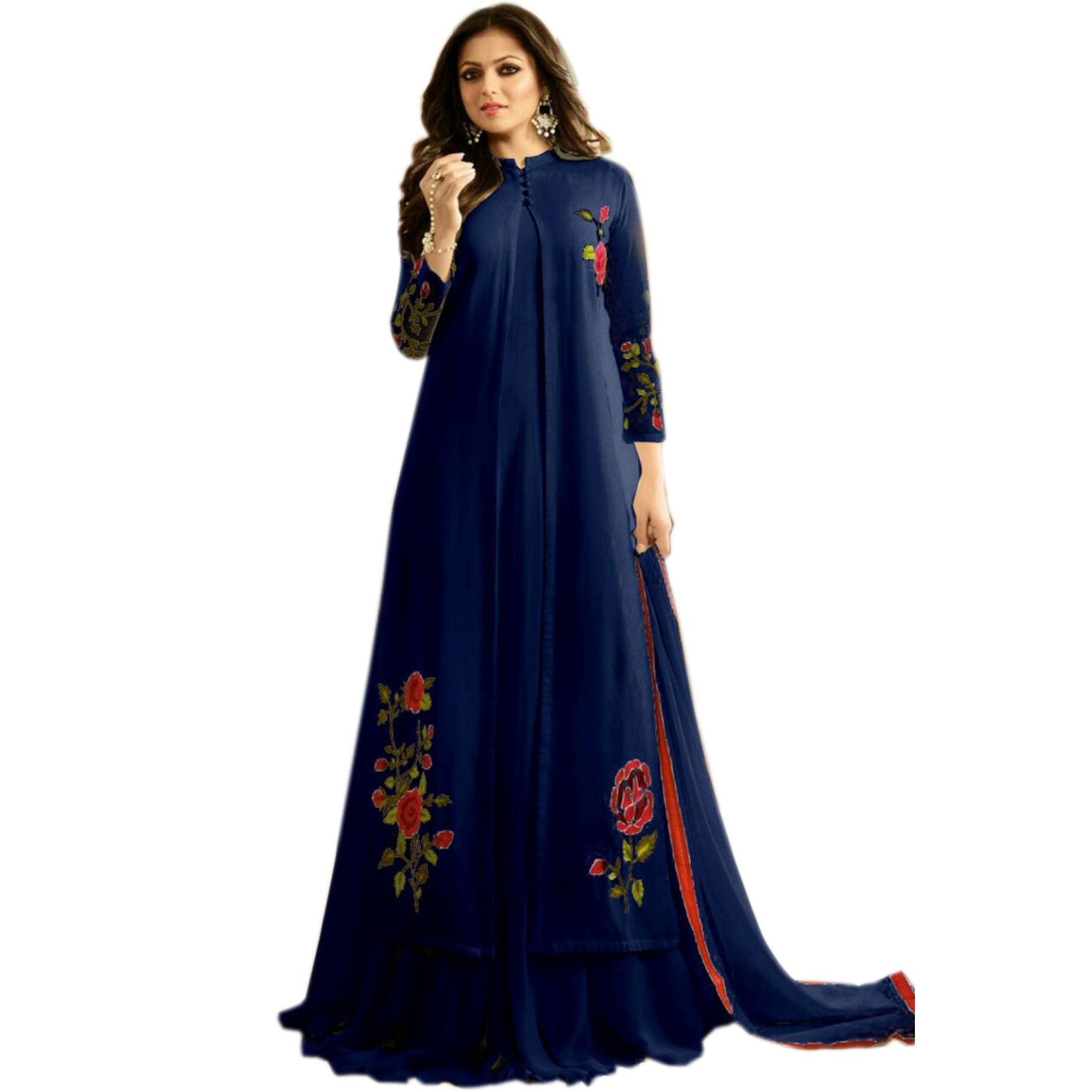 607c8e8cdd Ethnic Empire Women's Georgette Semi Stitch Party Wear Dress ,2018 new  collection,Anarkali Suit ...