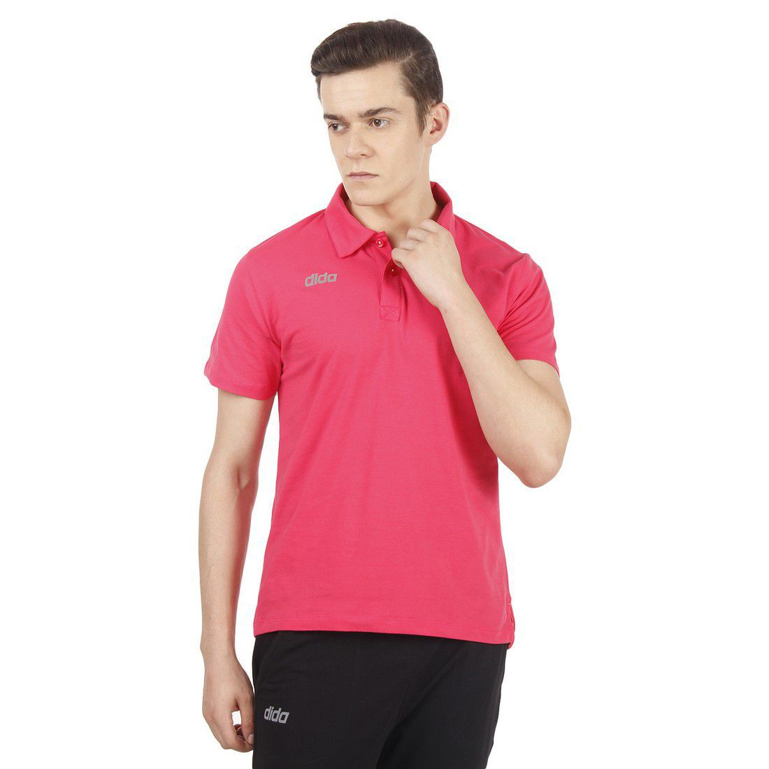DIDA Pink Cotton Polo T-Shirt