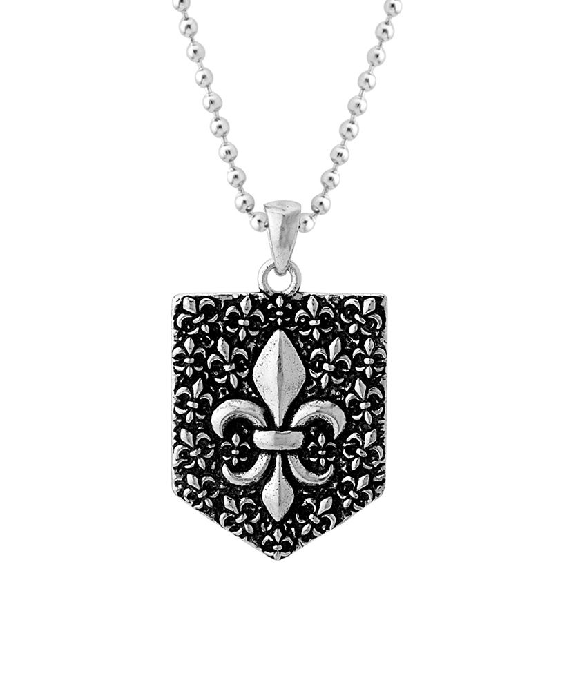 Dare Double Shaded Oxidized Silver Camp Royale Pendant for men