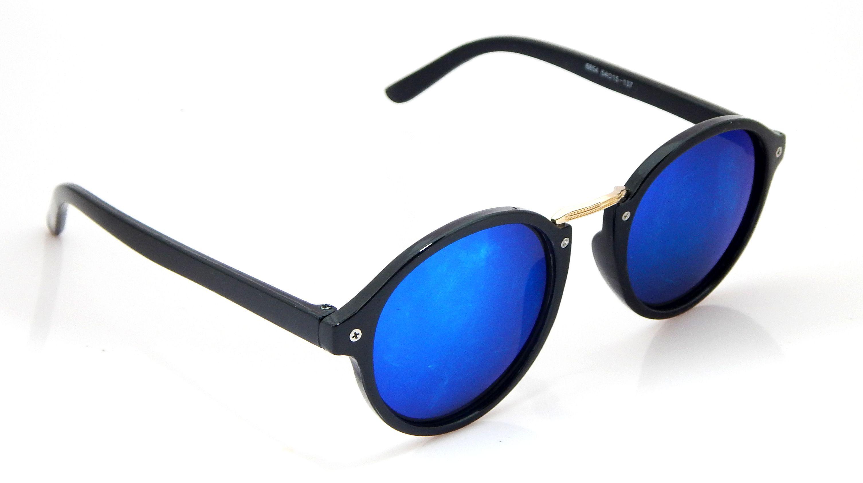 Els Ocean Blue Round Sunglasses ( 6854-BL-SBLU-MR-S )
