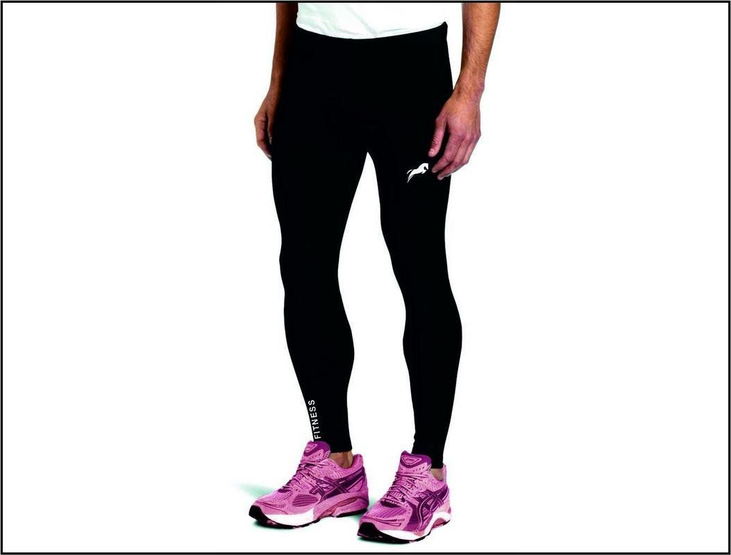 Rider Full Length Compression Tights Multi Sports Exercise/Gym/Running/Yoga/Other Outdoor ineer wear for Sports - Skin Tight Fitting - Black Color